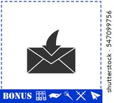 envelope icon flat. simple...