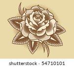 stippled flower | Shutterstock .eps vector #54710101