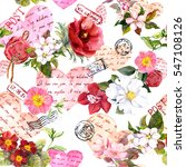 flowers  postal stamps and... | Shutterstock . vector #547108126