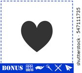 heart icon flat. simple vector...