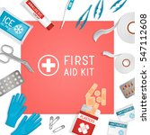 first aid kit background. kit... | Shutterstock .eps vector #547112608