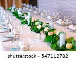 wedding table settings. | Shutterstock . vector #547112782