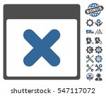 cancel calendar page icon with... | Shutterstock .eps vector #547117072