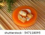creamy butternut squash soup... | Shutterstock . vector #547118095