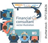 financial consultant concept.... | Shutterstock .eps vector #547118626