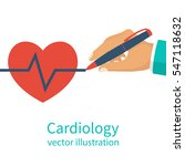 cardiologist doctor hold in... | Shutterstock .eps vector #547118632