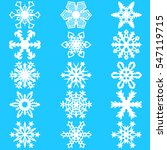 set snowflakes icons on white... | Shutterstock .eps vector #547119715