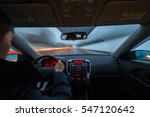 night road view from inside car ... | Shutterstock . vector #547120642