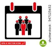 staff calendar day icon. vector ... | Shutterstock .eps vector #547125652