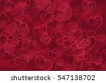 abstract red hearts bokeh... | Shutterstock . vector #547138702