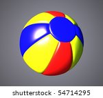 isolated beach ball | Shutterstock . vector #54714295