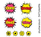 comic boom  wow  oops sound... | Shutterstock .eps vector #547146496
