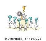 sketch crowd of little people... | Shutterstock .eps vector #547147126