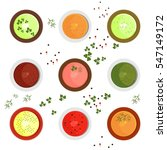 set of bright colored sauces.... | Shutterstock .eps vector #547149172