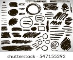 big set of hand drawn grunge... | Shutterstock .eps vector #547155292
