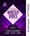 dance party  dj battle poster... | Shutterstock .eps vector #547158682