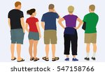 people viewed from behind | Shutterstock .eps vector #547158766