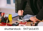 concept. thief steals in the... | Shutterstock . vector #547161655