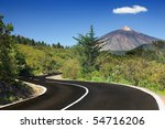 Open Road On Tenerife. Winding...