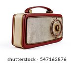 vintage retro red portable... | Shutterstock . vector #547162876