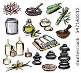 illustrations spa care products ... | Shutterstock .eps vector #547163212