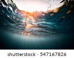 underwater shot of the sea... | Shutterstock . vector #547167826