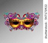 3d Gold Venetian Carnival Mask...