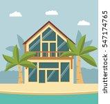 summer beach house for a... | Shutterstock .eps vector #547174765