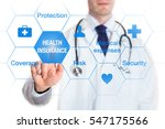 health insurance concept with... | Shutterstock . vector #547175566