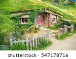 House With Red Door At Hobbito...