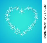 Heart Shape Of Snowflakes....