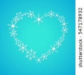 Heart Shape Of Snowflakes....