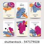 vector trendy brochure... | Shutterstock .eps vector #547179028