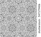 black and white vector ethnic... | Shutterstock .eps vector #547179406