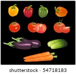 the big colorful group of... | Shutterstock .eps vector #54718183