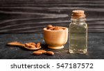 cosmetic almond oil in glass... | Shutterstock . vector #547187572