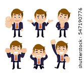 set of businessman characters... | Shutterstock .eps vector #547190776
