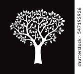 white tree on black background. ... | Shutterstock .eps vector #547193926