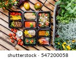 healthy food and diet concept ... | Shutterstock . vector #547200058