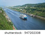 cruise ship on gyeongin ara... | Shutterstock . vector #547202338