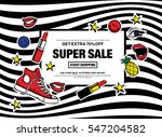 get extra 70  super sale start... | Shutterstock .eps vector #547204582