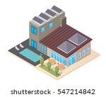 modern luxury isometric green... | Shutterstock .eps vector #547214842