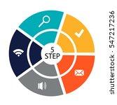 circular infographics of 5...   Shutterstock .eps vector #547217236