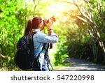 professional woman photographer ... | Shutterstock . vector #547220998