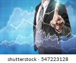 businessman with financial... | Shutterstock . vector #547223128