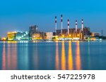 at dusk  the thermal power... | Shutterstock . vector #547225978