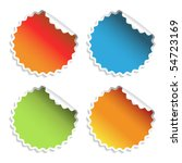 vector stickers | Shutterstock .eps vector #54723169
