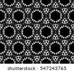 black and white geometric... | Shutterstock .eps vector #547243765