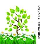 vector summer background with...   Shutterstock .eps vector #54724564