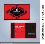 black and red modern business... | Shutterstock .eps vector #547252486